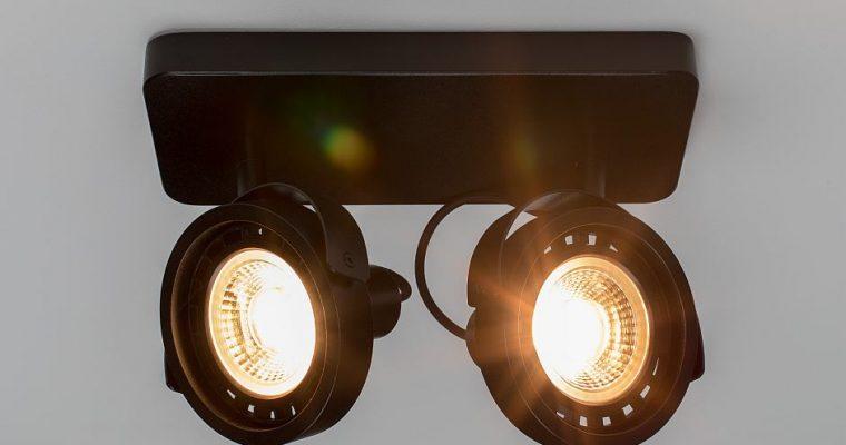 Zuiver Dice-2 Plafondspot – DTW Dim To Warm Dimbare LED – Zwart   8718548048584