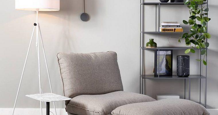 Zuiver Hocker Lazy Sack – Stof Lichtgrijs | 8718548043527