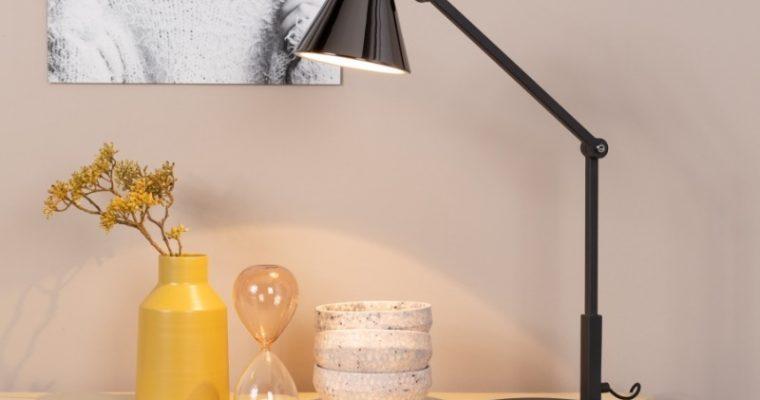 Zuiver Lub Bureaulamp 1-Lichts – LED – 20x47x45 – Zwart Metaal | 8718548044333