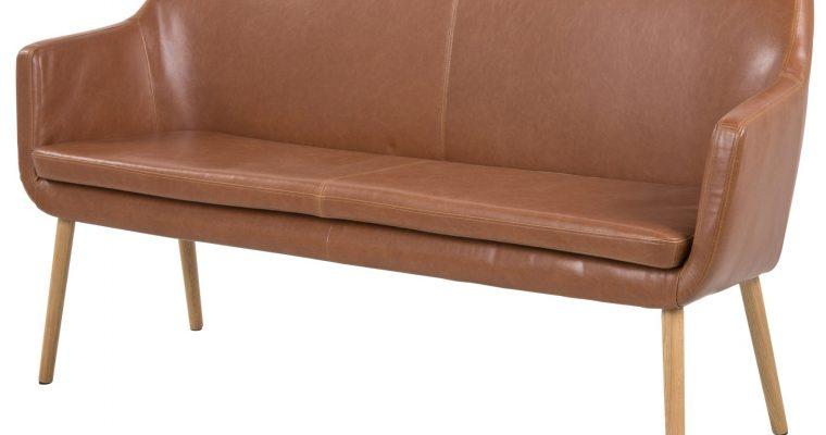 24Designs Eetkamerbank 2-zits Freya – L159 X B56 X H86 Cm – Vintage Cognac | 8719172349993