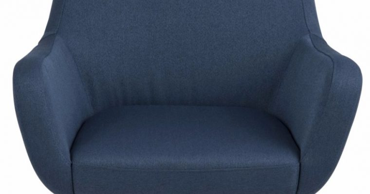 24Designs Fauteuil Birk – Stof Blauw – Chromen Kruispoot | 8719323478800