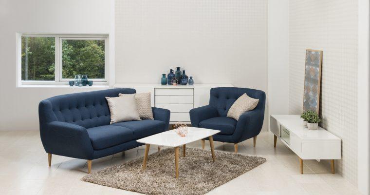 24Designs Fauteuil Emelie – Stof – Blauw | 8719172348699