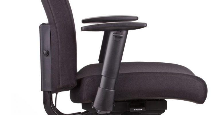 24Designs Luxe Bureaustoel Business Georgetown – Zwart Gestoffeerd – Tot 160 Kg | 8719323474666