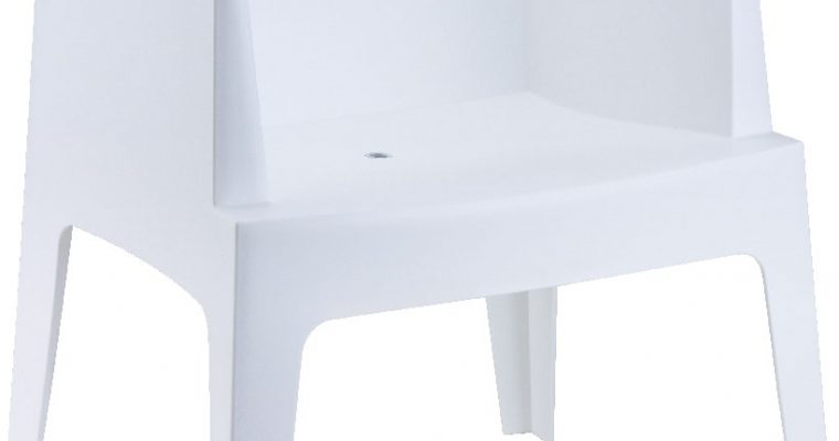 24Designs Set 8 Tuinstoelen Box – Wit   8718692420762
