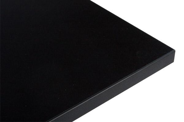 24Designs Tafelblad Vierkant – Zwart – 70 X 70 Cm   8719172344912
