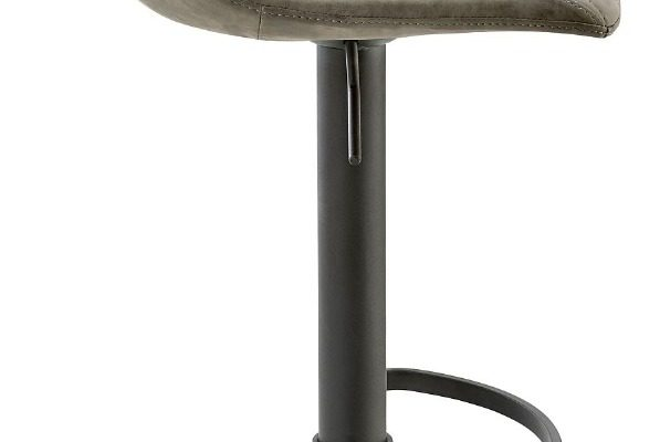 24Designs Verstelbare Barkruk Jake – Bruin Vintage Kunstleer – Zwart Onderstel | 8720143243530