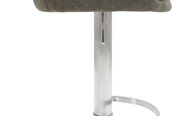 24Designs Verstelbare Barkruk Levi – Modderbruin Vintage Kunstleer – Mat RVS Onderstel | 8720143246968