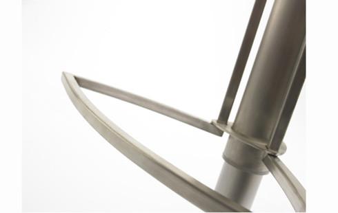 24Designs Verstelbare Barkruk Ripley – RVS Onderstel – Witte Kunstleren Zitting | 8718692429895