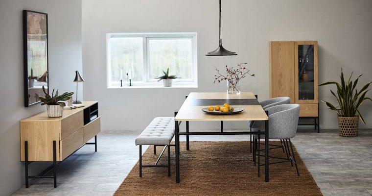 24Designs Ziggy Eetbank 160x37x46 – Stof Lichtgrijs – Zwarte Metalen Poten | 8720143249389