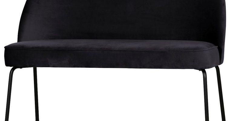 BePureHome Vogue Eetbank – B120 X D59 X H82.5 Cm – Fluweel Inkt | 8714713101054