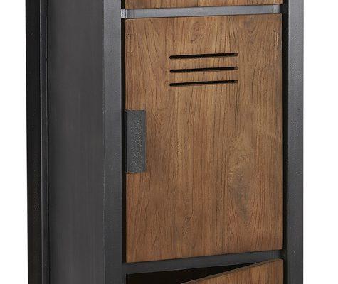 D-Bodhi Fendy Locker Kast – 3 Deurs – L45 X B40 X H160 Cm – Teakhout | 8720146538671