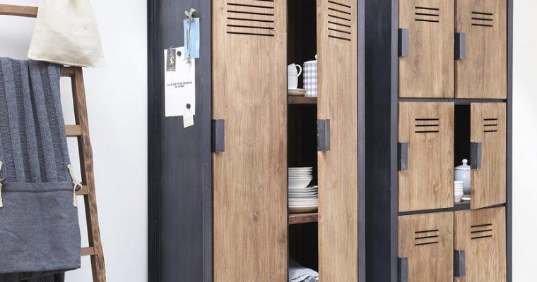 D-Bodhi Fendy Locker Kast – 6 Deurs – L80 X B40 X H160 Cm – Teakhout | 8720146538688