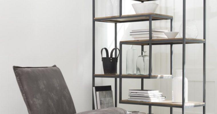 D-Bodhi Yarra Lounge Fauteuil – Grijs Leer – Metalen Frame | 8720146543910