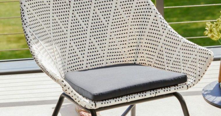 Hartman Delphine Loungestoel – Nouveaux Wicker – Zwart Aluminium Onderstel   8711268579680
