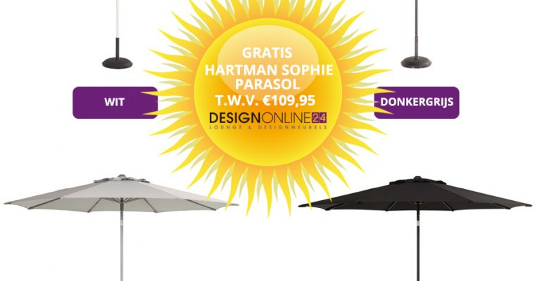 Hartman Sophie Yasmani Tafel 240 Cm + 6 Studio Stoelen Wit + Gratis Parasol T.w.v.? 109,95 | 8719874342346