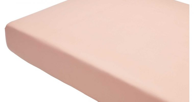 Hoeslaken Katoen Roze