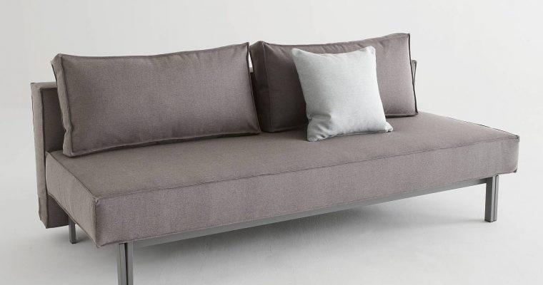 Innovation Slaapbank Sly – Flashtex Dark Grey 216 – Mat Zwart Onderstel | 8720143240188