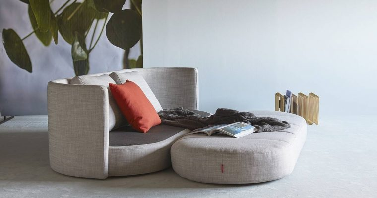 Innovation Slaapbank Villum- Stof Linen Ash Grey 613 | 8720195951506