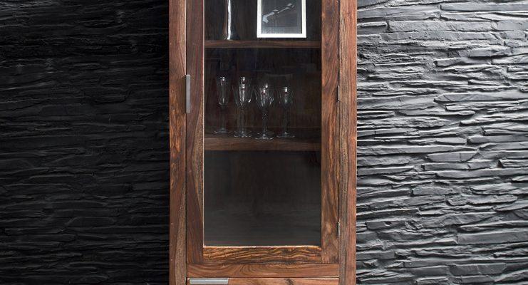 Kare Design Authentico Servieskast – B67xD40xH180 Cm – Sheesham Hout – Bruin   4025621745013
