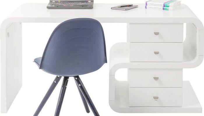Kare Design Bureau White Club Snake Desk – B150 X D70 X H76 Cm – Mat Wit | 4025621751939