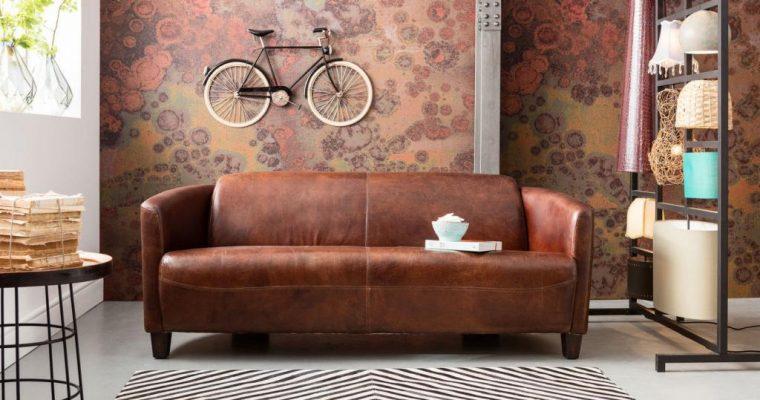Kare Design Cigar 2.5-Zits Bank – B176 Cm – Leer Bruin | 4025621770633