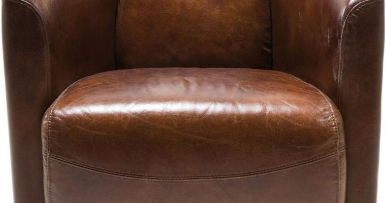Kare Design Fauteuil Cigar Lounge – Leer – Bruin | 4025621769484