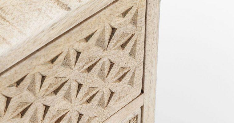 Kare Design Ladekast Puro – 2 Laden – L50 X B35 X H46 Cm – Mangohout   4025621813323