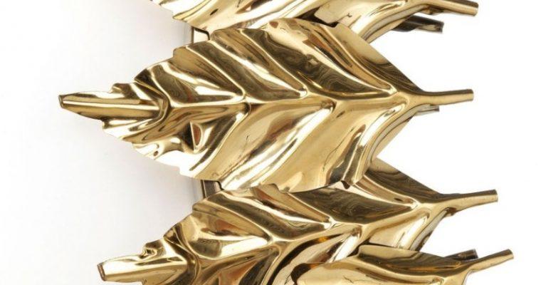Kare Design Leaves Spiegel – Rond -Ø76xD5 Cm – Goud | 4025621837633