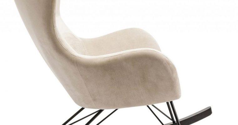 Kare Design – Schommelstoel Oslo – Beige Stof | 4025621827313