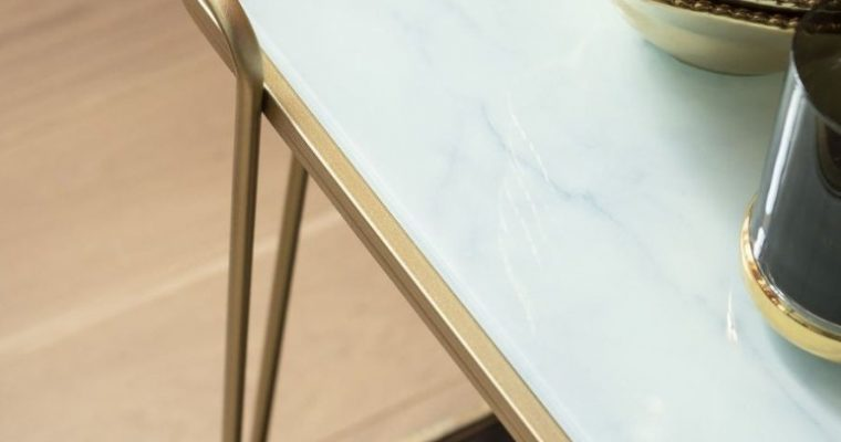 Kare Design West Coast Trolley – 60x37x67 – Goud Gelakt Metaal – Glazen Blad |