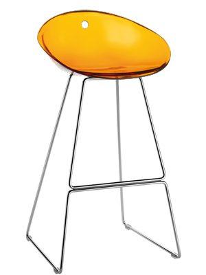 Pedrali Barkruk Gliss 906 – Set Van 2 – H75 Cm – Oranje |