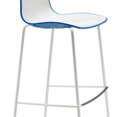 SCAB Set 2 Barkrukken Zebra Bicolore 80 – Wit/Blauw – Wit Onderstel | 8005733256078