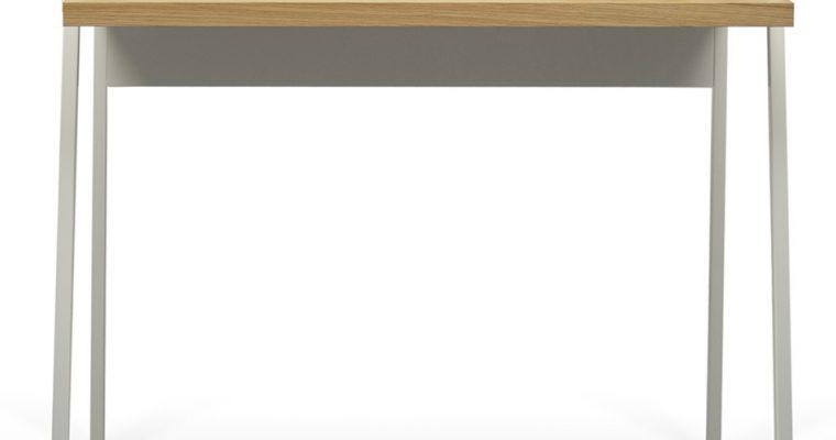 TemaHome Bureau Volga – L90 X B60 X H88 Cm – Mat Wit – Eiken | 5603449052811