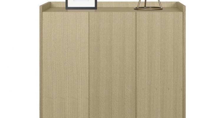 TemaHome Mara Kledingkast – B110xD54xH125 Cm – Eiken – Houten Poten | 8720143248726