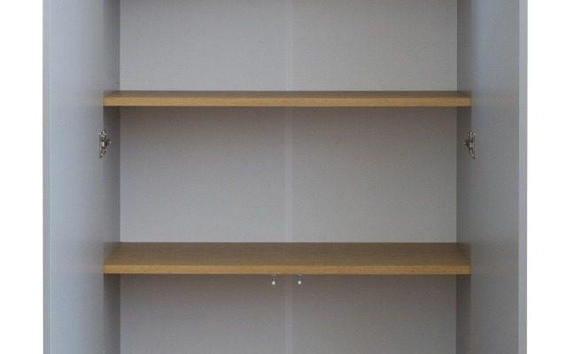 Tenzo Dot Kledingkast 2-Deurs 79x37x201 – Grijs – Eiken Poten | 8720143245848