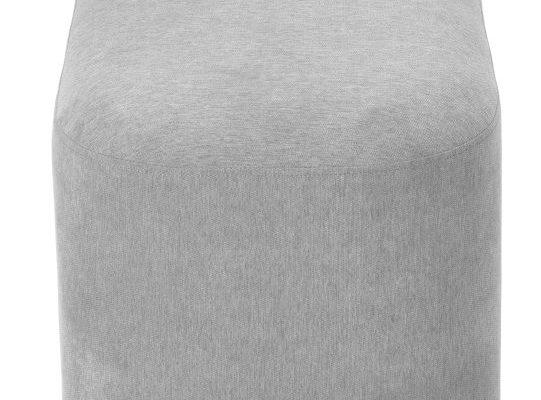 Tenzo Harry Poef – 122x42x46 – Grijze Stof – Zwarte Metalen Poten | 7394084082766