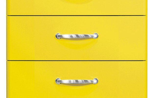 Tenzo LadeKast Malibu 5-Laden – B60 X D41 X H111 – Geel   7394084060481