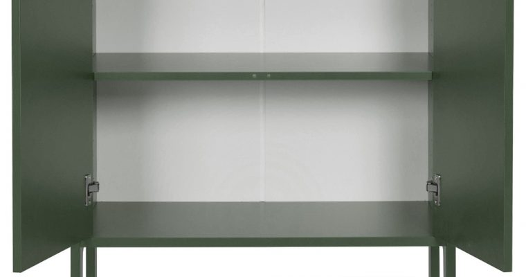 Tenzo UNO Kast – 2-Deurs – 76x40x89 – Bosgroen |