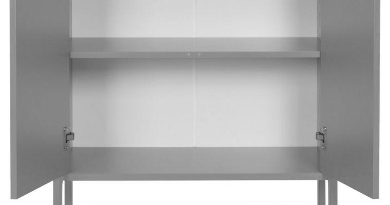 Tenzo UNO Kast – 2-Deurs – 76x40x89 – Grijs |