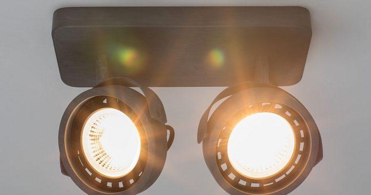 Zuiver Dice-2 Plafondspot – DTW Dim To Warm Dimbare LED – Gegalvaniseerd Grijs   8718548048591