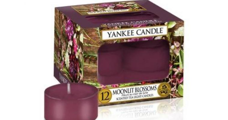 Yankee Candle Moonlit Blossoms waxinelichtjes 12 stuks | 1611589E | Yankee Candle