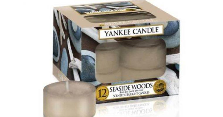Yankee Candle Seaside Woods waxinelichtjes 12 stuks | 1609120E | Yankee Candle