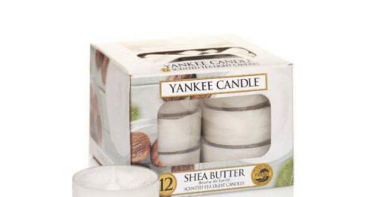 Yankee Candle Shea Butter waxinelichtjes 12 stuks   1332217E   Yankee Candle