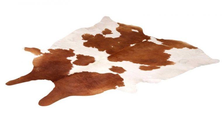 Vloerkleed Koeienhuid Wit Bruin