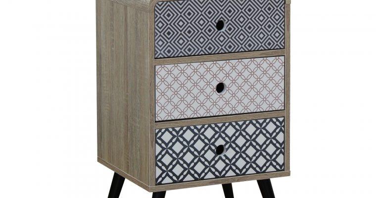 Artistiq Nachtkastje 'Mailbox' met 3 laden  
