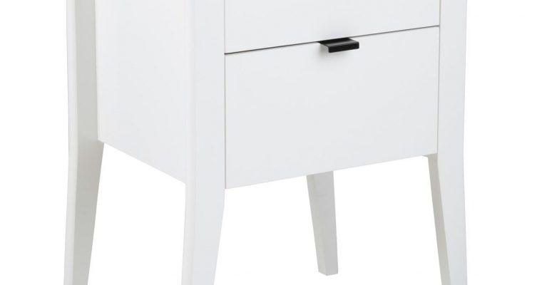 Bendt Nachtkastje 'Jørgen' met 2 laden, kleur wit | 5713941009647