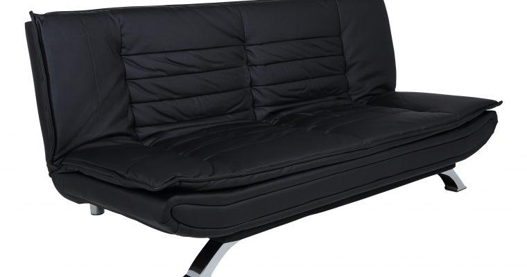 Bendt Slaapbank 'Oliver' PU-leder, kleur zwart | 5705994657548