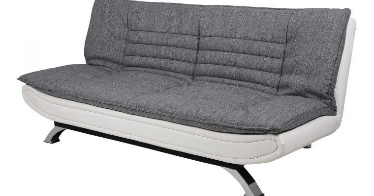 Bendt Slaapbank 'Oliver' PU-leder / textiel, kleur grijs | 5705994670400