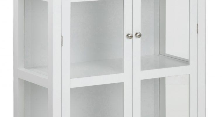 Bendt Vitrinekast 'Yutte' 136 x 80cm, kleur wit | 5705994989526