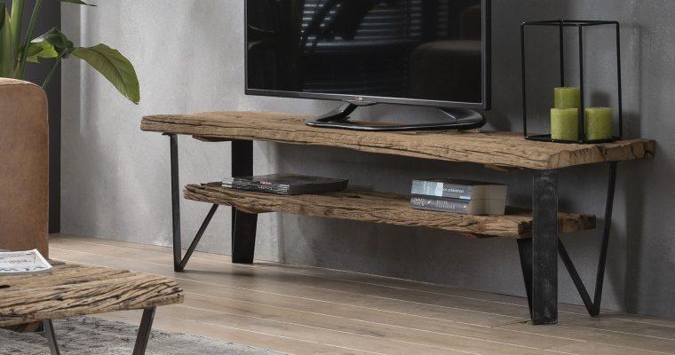 Industrieel TV-meubel 'Ron' 160cm | 8713244025501